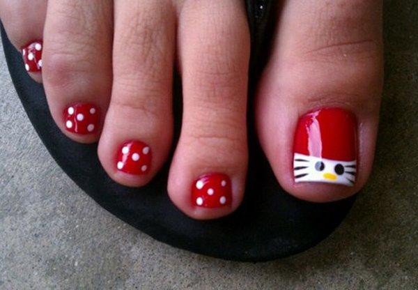 40 toe nail art designs - 60 Cute & Pretty Toe Nail Art Designs