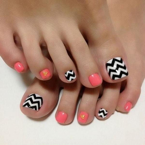 53 toe nail art designs - 60 Cute & Pretty Toe Nail Art Designs