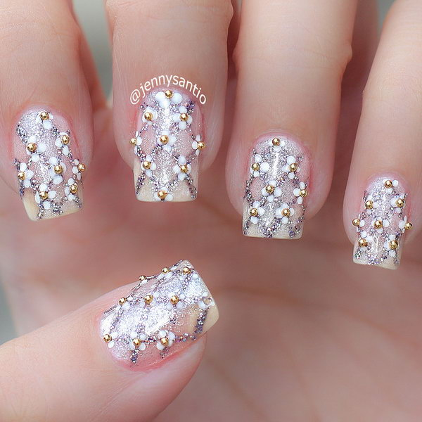 12 wedding nail art designs - 40+ Amazing Bridal Wedding Nail Art for Your Special Day