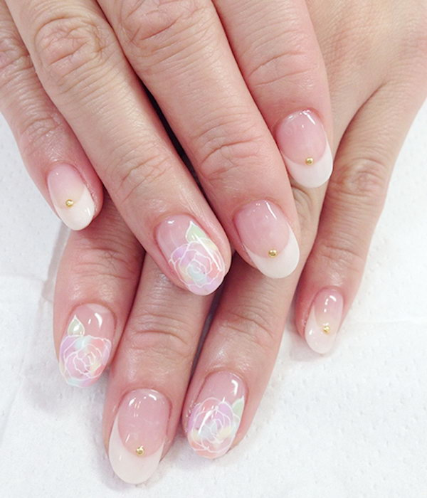 18 wedding nail art designs - 40+ Amazing Bridal Wedding Nail Art for Your Special Day