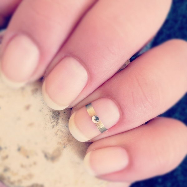 2 wedding nail art designs - 40+ Amazing Bridal Wedding Nail Art for Your Special Day