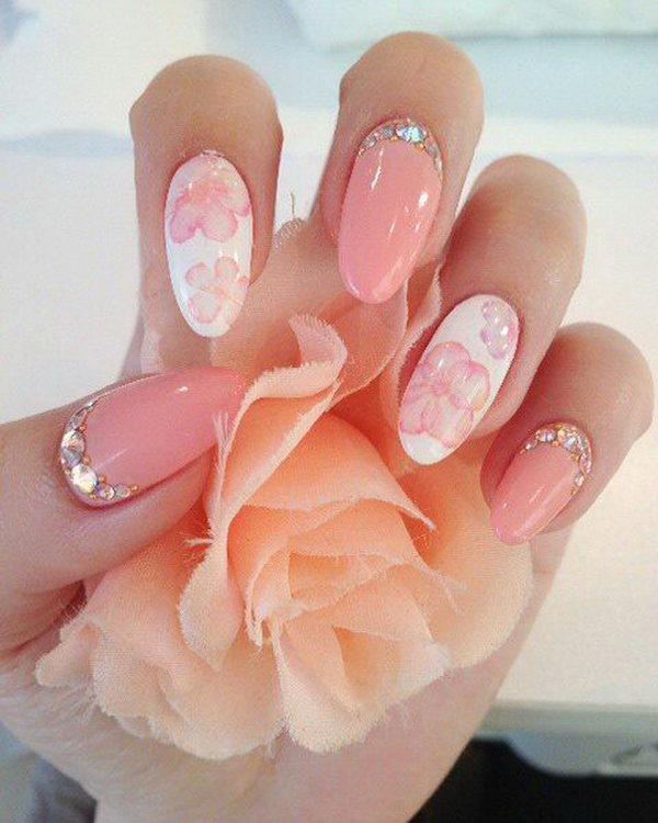 25 wedding nail art designs - 40+ Amazing Bridal Wedding Nail Art for Your Special Day