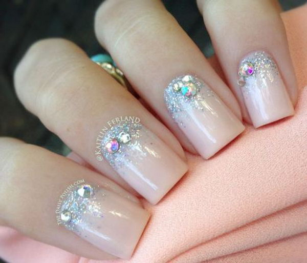 28 wedding nail art designs - 40+ Amazing Bridal Wedding Nail Art for Your Special Day