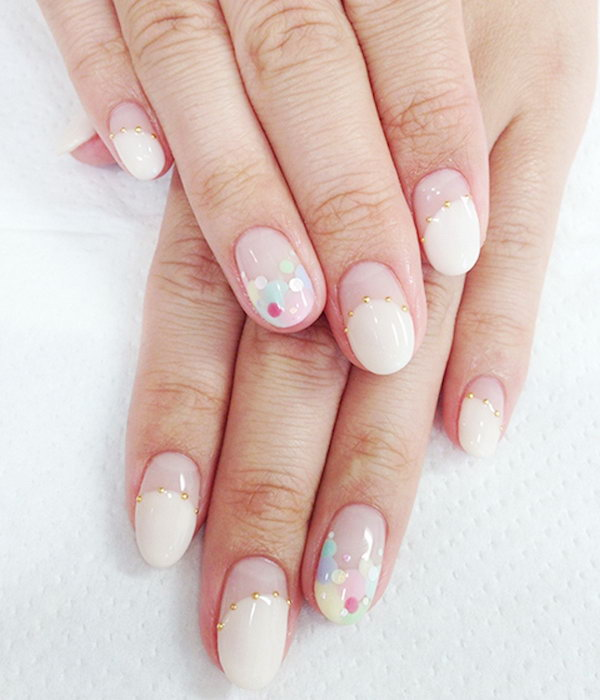 35 wedding nail art designs - 40+ Amazing Bridal Wedding Nail Art for Your Special Day