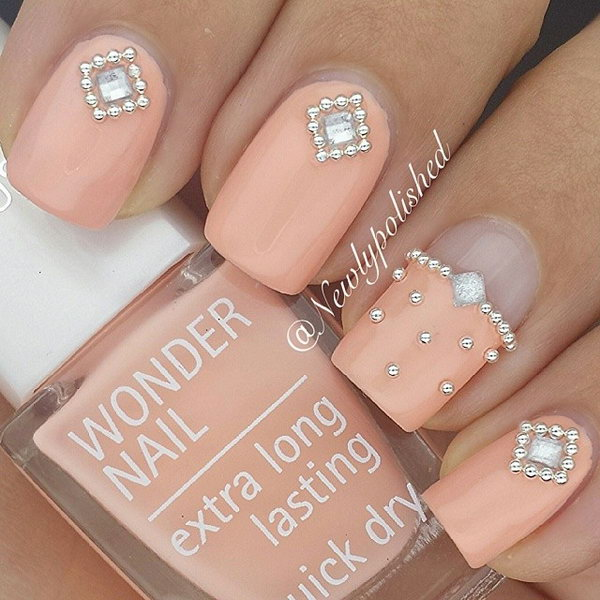 37 wedding nail art designs - 40+ Amazing Bridal Wedding Nail Art for Your Special Day