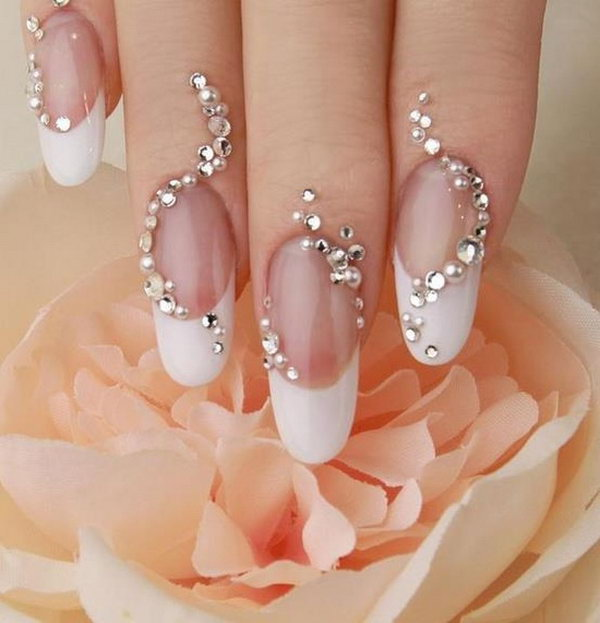 42 wedding nail art designs - 40+ Amazing Bridal Wedding Nail Art for Your Special Day