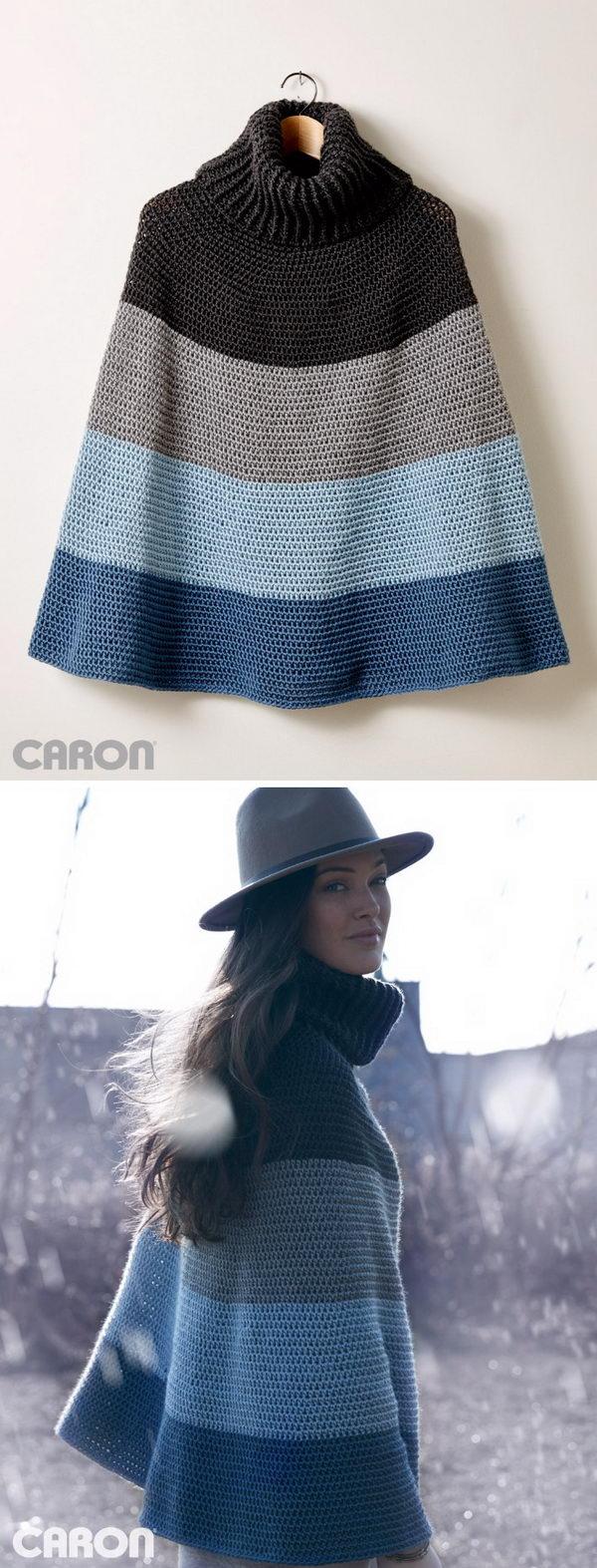 10 crochet women capes poncho ideas - 20 Crochet Women Capes and Poncho Ideas