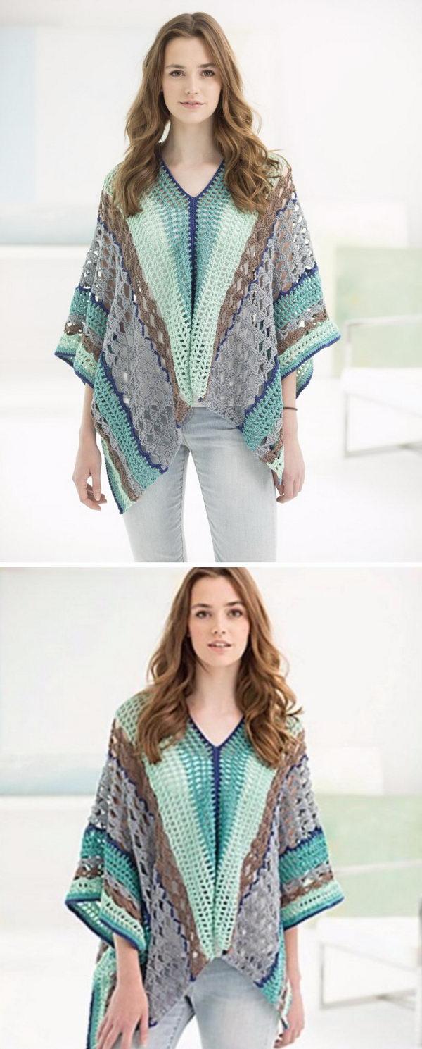 11 crochet women capes poncho ideas - 20 Crochet Women Capes and Poncho Ideas
