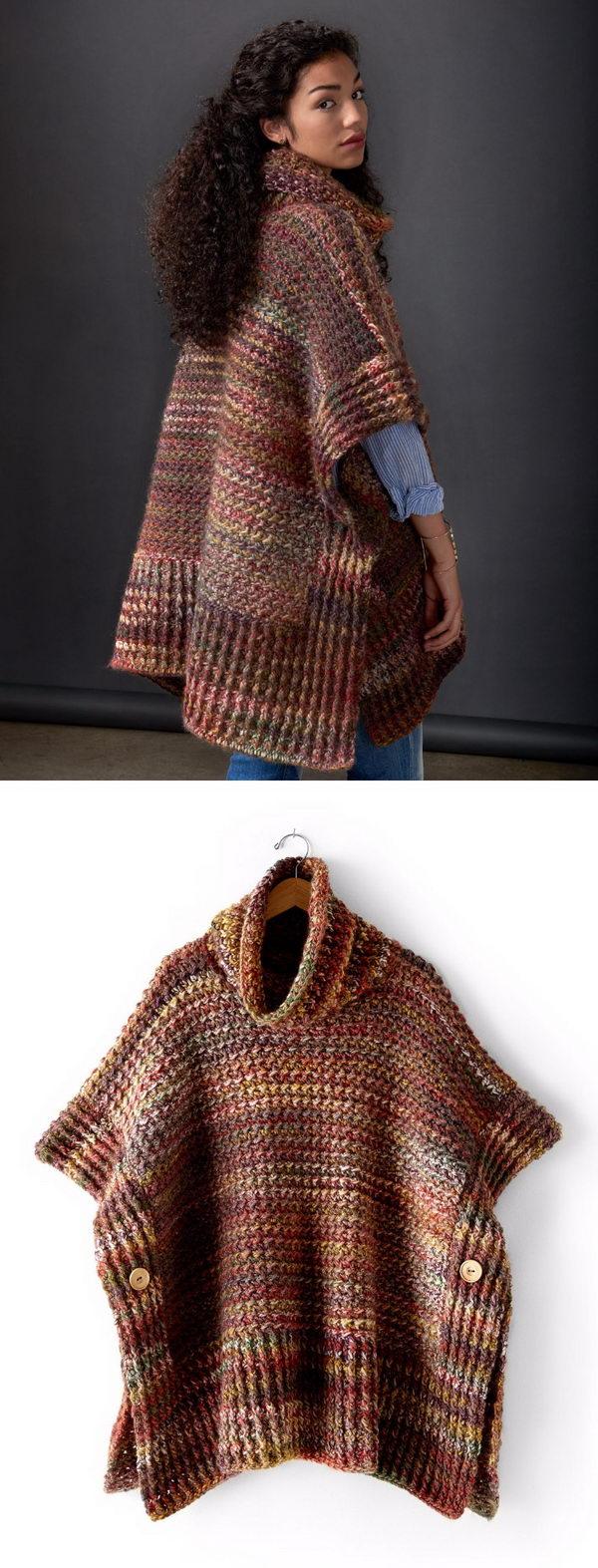 16 crochet women capes poncho ideas - 20 Crochet Women Capes and Poncho Ideas