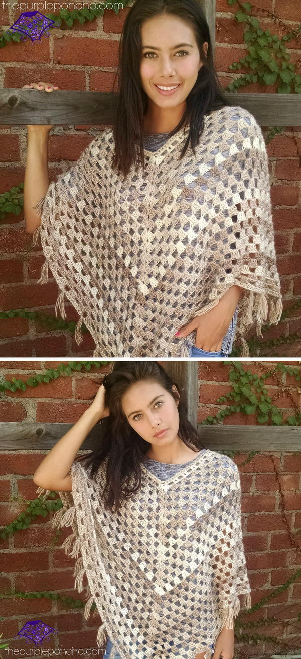 8 crochet women capes poncho ideas - 20 Crochet Women Capes and Poncho Ideas