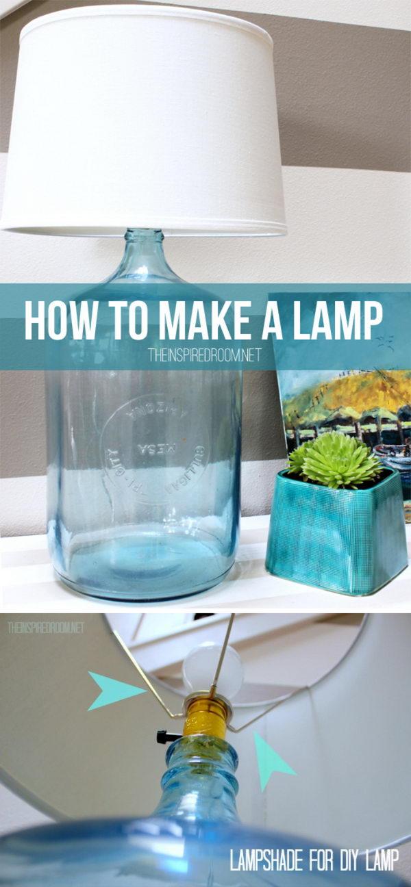 8 lamp ideas diy - 20 Easy DIY Lamp Ideas for Home Decor