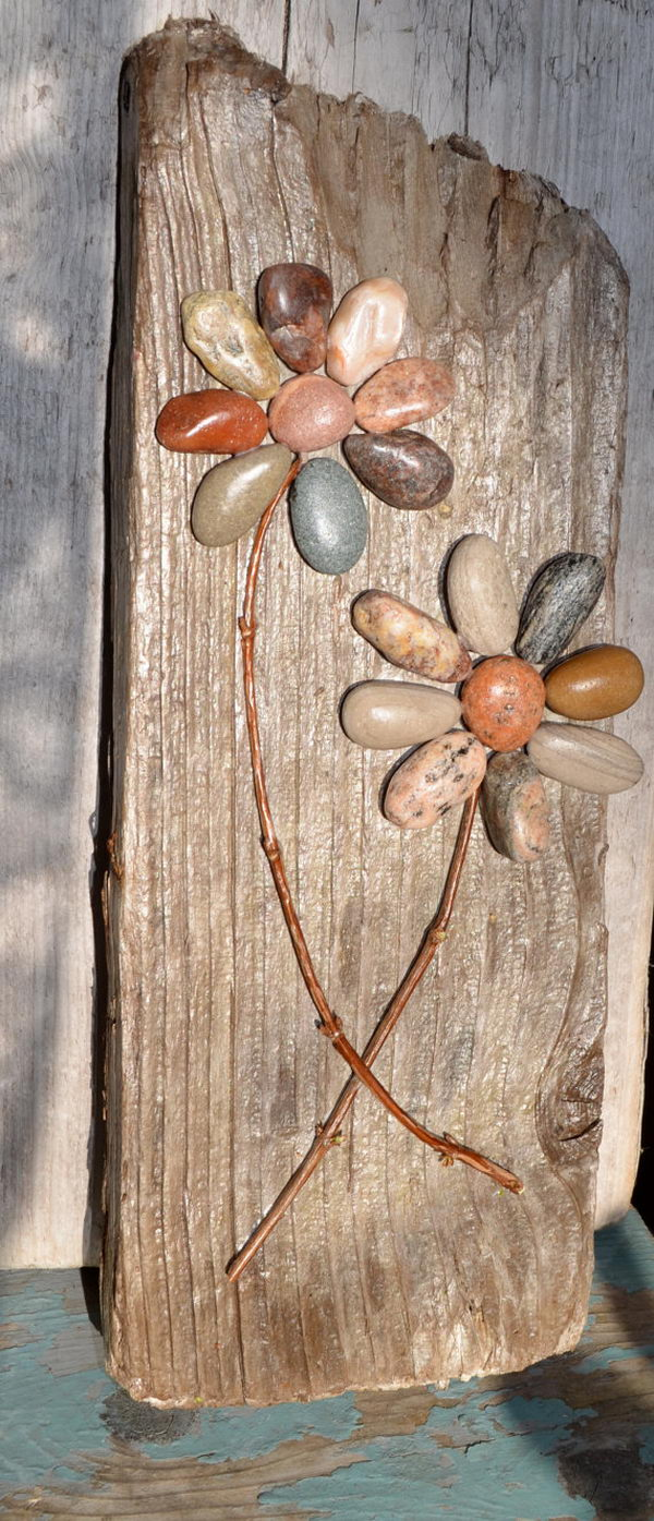 25 DIY Home Decor Ideas Using Pebbles and River Rocks on Pebble Yard Ideas id=91380