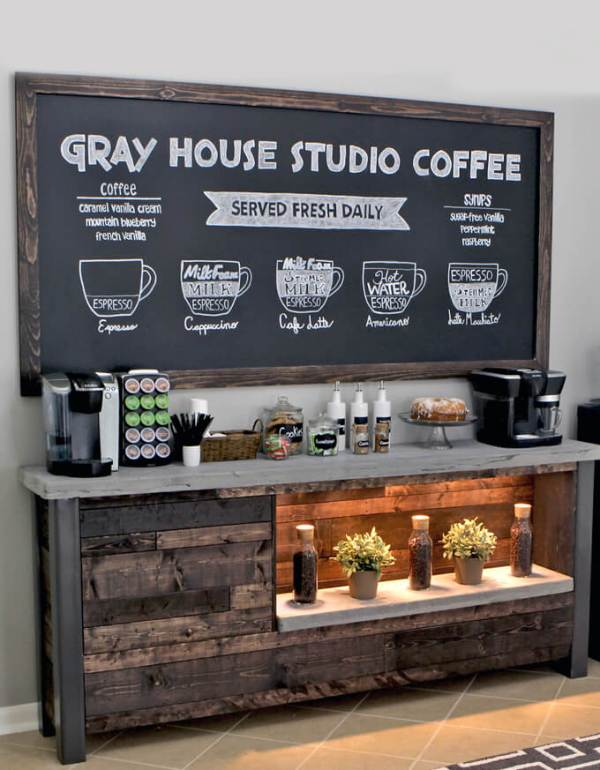 17 coffee station diy ideas tutorials - 15+ Cool DIY Coffee Station Ideas