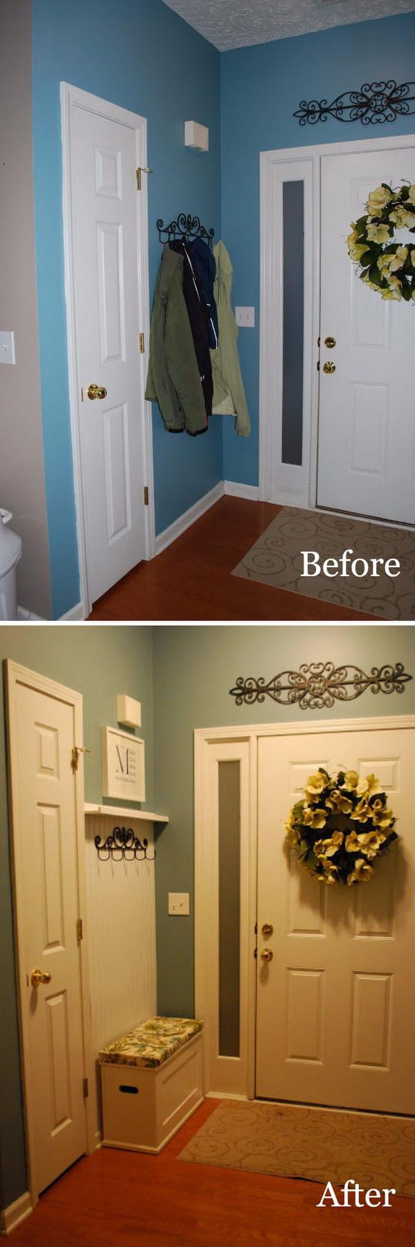 15 entryway makeover diy ideas tutorials - 30+ DIY Ideas to Give a Makeover to a Your Entryway