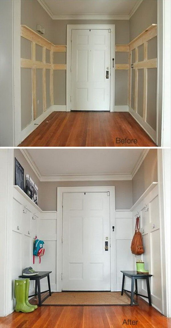 16 entryway makeover diy ideas tutorials - 30+ DIY Ideas to Give a Makeover to a Your Entryway