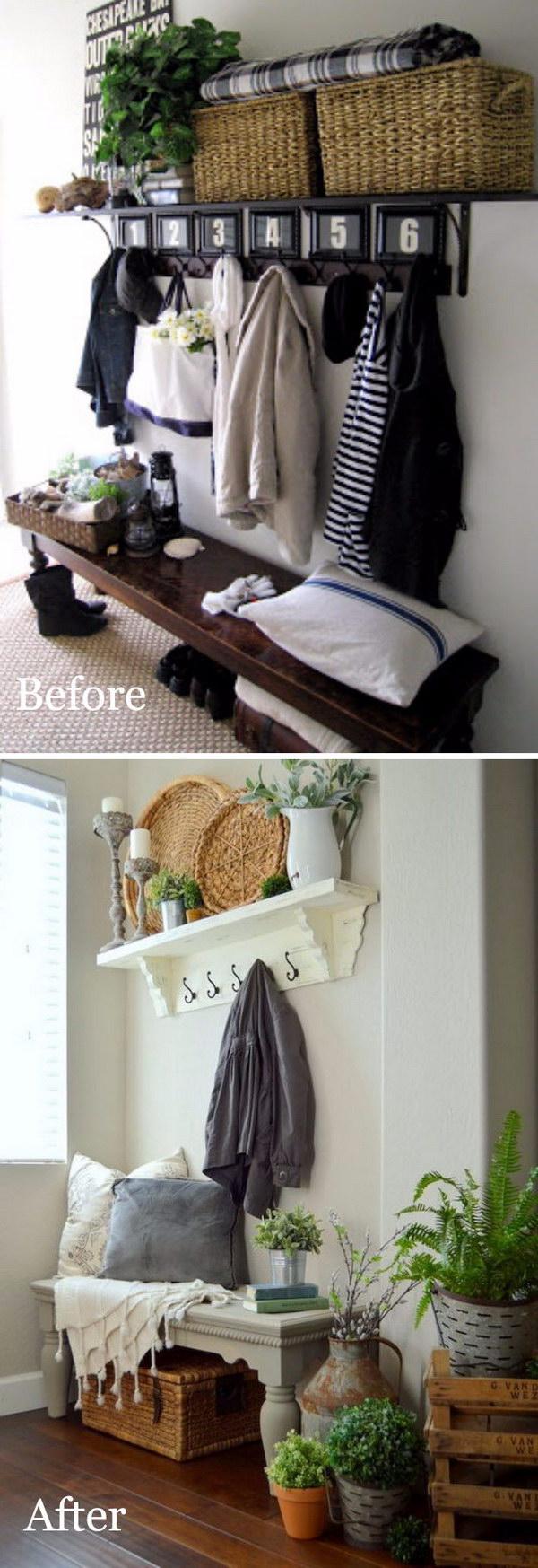 20 entryway makeover diy ideas tutorials - 30+ DIY Ideas to Give a Makeover to a Your Entryway