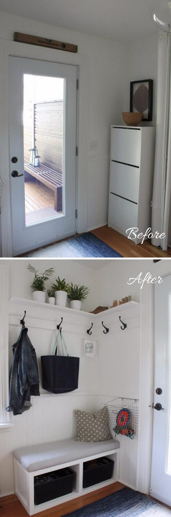 31 entryway makeover diy ideas tutorials - 30+ DIY Ideas to Give a Makeover to a Your Entryway