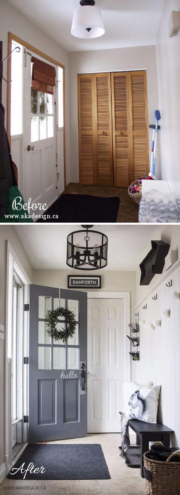 9 entryway makeover diy ideas tutorials - 30+ DIY Ideas to Give a Makeover to a Your Entryway