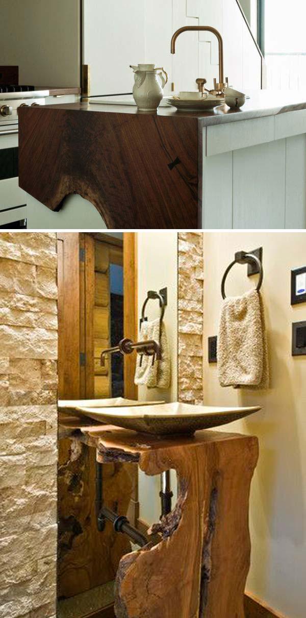 12 live edge wood decoration ideas - 20 Awesome Live Edge Wood Decoration Ideas