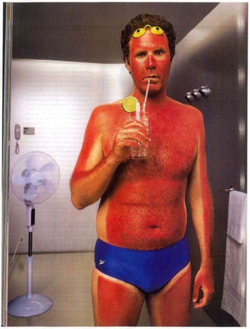 Will Ferrell's expert demonstration of a tan gone wild.