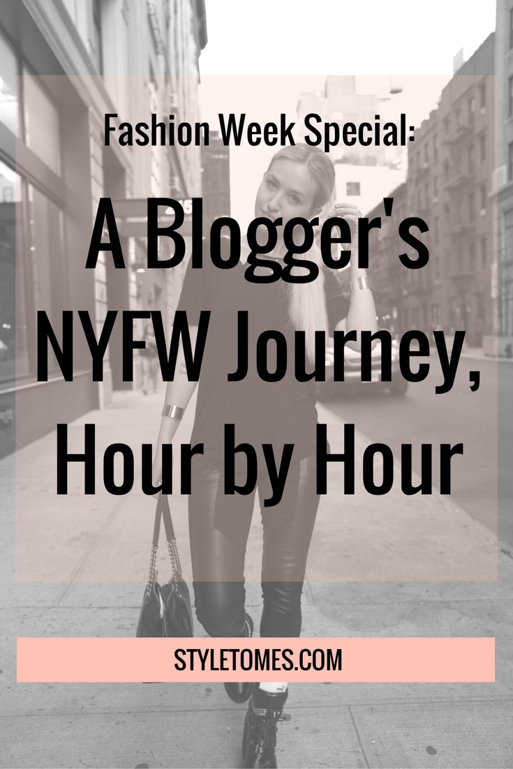 NYFW Schedule: Blogging Life before NYFW even starts