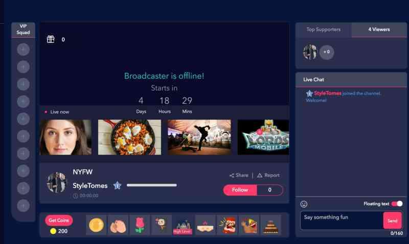 PocketLive Style Tomes NYFW live stream
