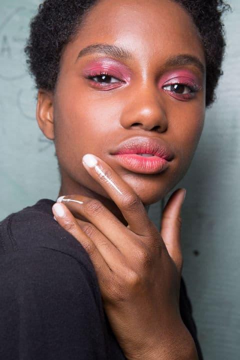 Tadashi Shoji Spring 2017 creative makeup beauty trends