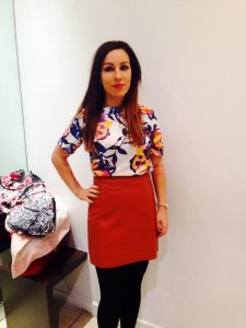 Top, £30, Skirt, £60, necklace, £24, all Warehouse