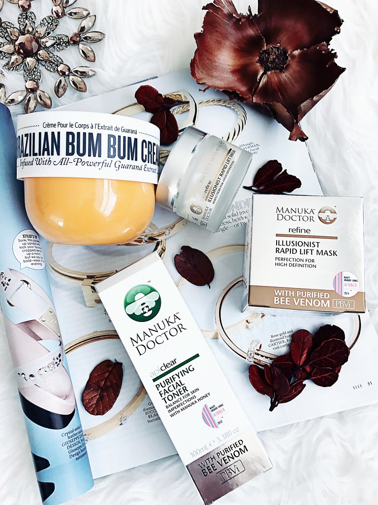 Brazilian Bum Bum Cream Illusionist Rapid Lift Mask Manuka Doctor ApiClear Toner