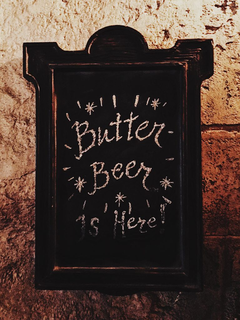 Butter Beer at Universal Studios Orlando