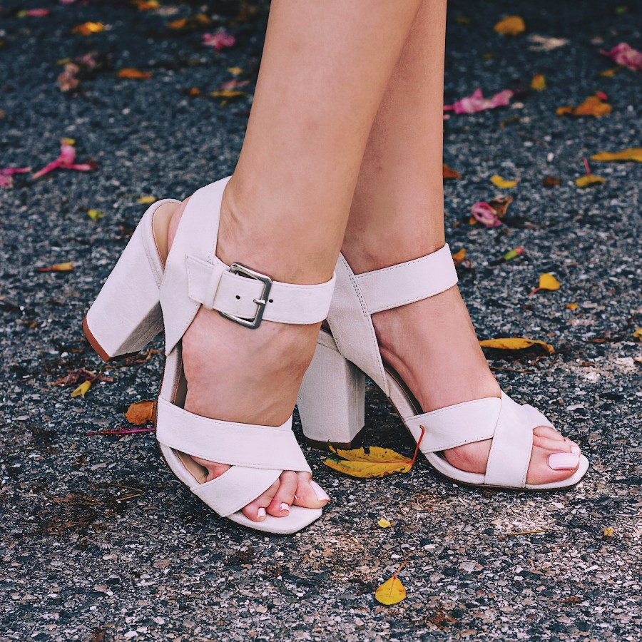 Ivory Suede Heels Sandals StyleUnsettled