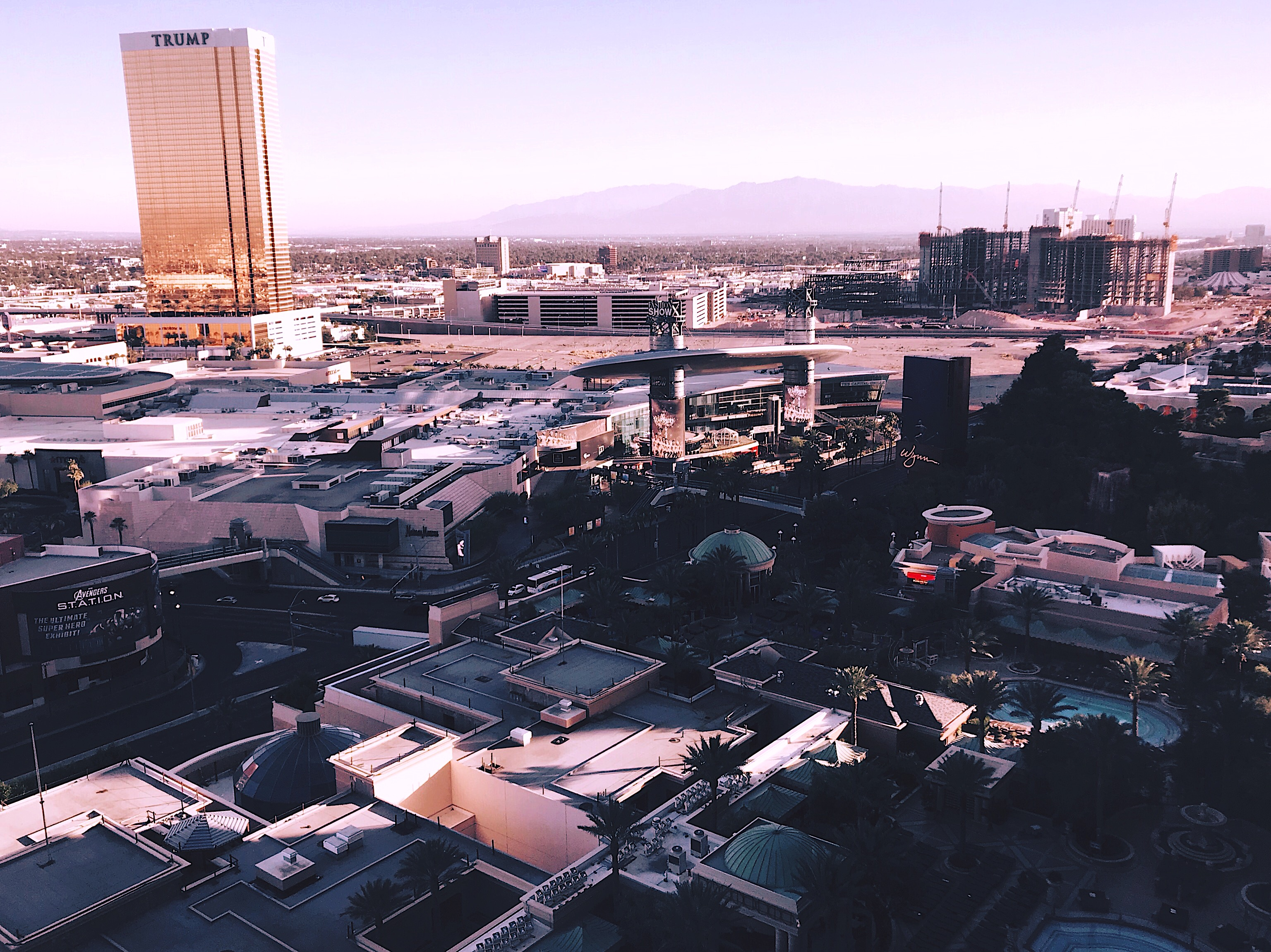 Las Vegas Strip aerial view daytime Style Unsettled