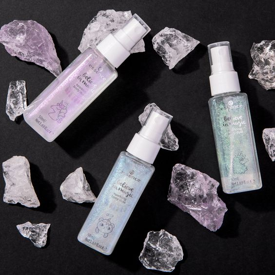 essence cosmetics believe in magic sparkling body dust