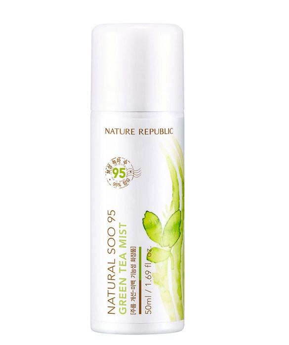 Nature Republic Soo 95 Green Tea Mist Review and The Beauty Benefits of Green Tea