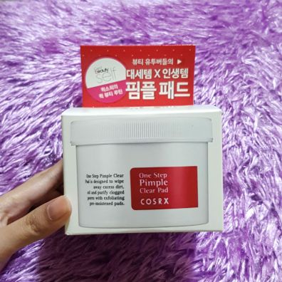 cosrx one step pimple clear pad review box