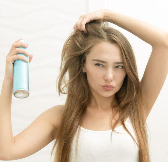 dry shampoo woman hair beauty