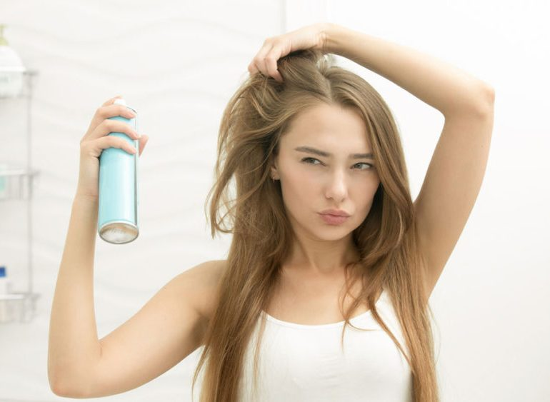 dry shampoo woman hair beauty