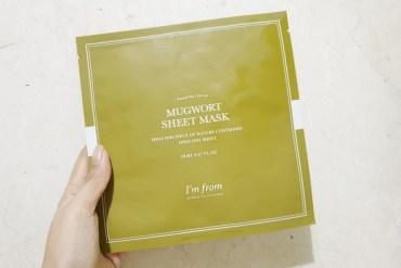 i'm from mugwort sheet mask review