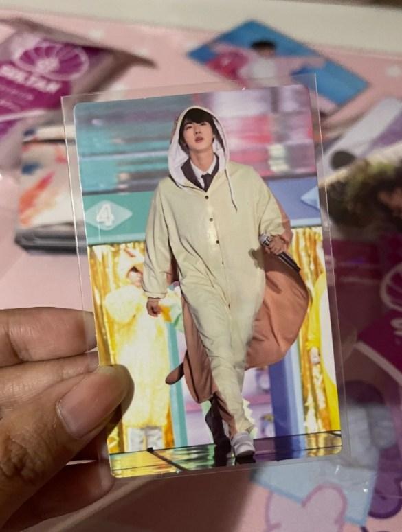 where to buy kpop photo cards - kim seokjin 4th muster photocard - bts jin - alyssa martinez