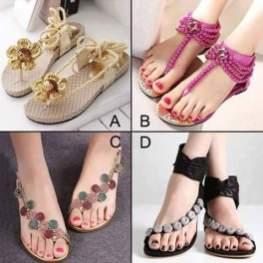 Eid Sandals Footwear Shoes Designs For Women 2015 2
