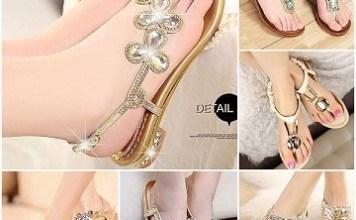 Eid Sandals Footwear Shoes Designs For Women 2015