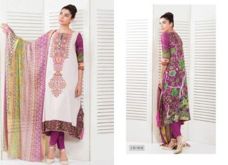 Summer Lawn Shalwar Kameez Designs By Riaz Arts 2015