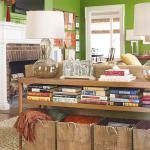 books in living room