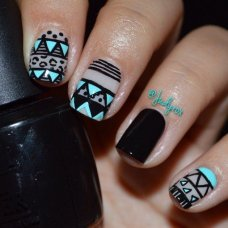 Beautiful Aztec Nail Art Designs For Young Girls 10