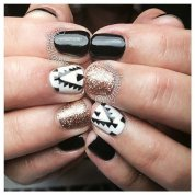 Beautiful Aztec Nail Art Designs For Young Girls 11