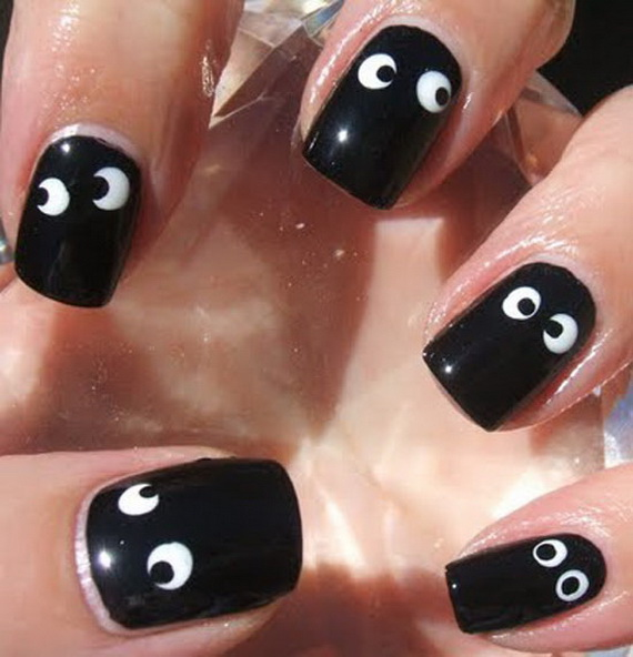 googly eye nail art