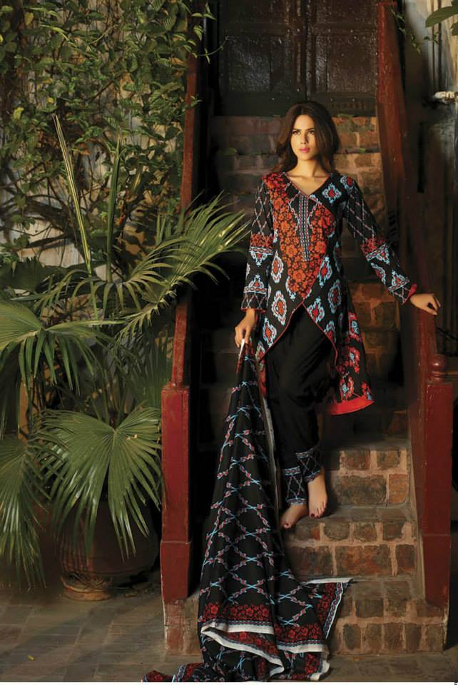 printed kameez in winter