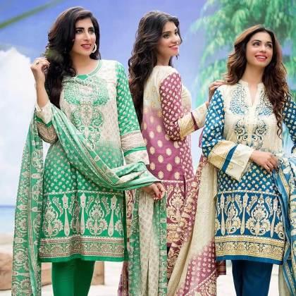 Eid Ul Azha Printed Kameez By Ittehad Textiles 2015-16