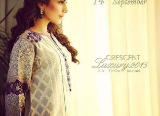 Eid Ul Azha Silk Chiffon Dresses By Crescent 2015-16