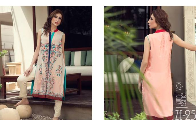 Embroidered Party Wear For Women By Zunn 2015-16